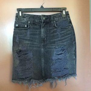 LF black high waisted denim skirt NWT